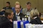 David Bain listens to his counsel during his retrial. Photo / APN