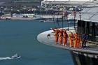 Auckland adventurers take on the SkyWalk. Photo / Supplied.