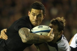Sonny Bill Williams is picked as being one of the most exciting attacking players since Jonah Lomu. Photo / Getty images