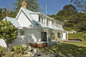 Kawau Island's Schoolhouse bach. Photo / Supplied