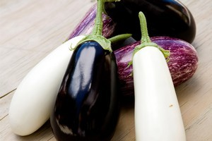Eggplants are delicious but high maintenance to grow here. Photo / Babiche Martens
