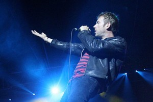 Damon Albarn at the Auckland Vector Arena concert, the last live Gorillaz performance. Photo / Natalie Slade