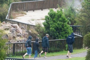 An 8-year-old boy died last night after being badly burnt in one of the geothermal hot pools at Kuirau Park in Rotorua. Photo / Rotorua Daily Post