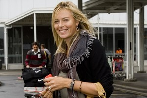 Maria Sharapova arriving in Auckland this morning. Photo / Dean Purcell