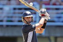 New Zealand batsman Peter Ingram scored 69 against Bangladesh yesterday. Photo / Getty Images