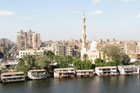 The essence of Cairo - the Nile River and a skyline of minarets. Photo / Jill Worrall