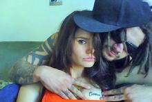 Millie Elder with her boyfriend Connor Morris and her tattoo. Photo / Supplied