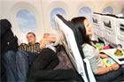 Air New Zealand's new Skycouch seats will allow couples to snuggle up together. Photo / Supplied