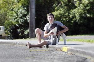 Bronson Stewart needs to find a job if he wants to look after his dog properly. Photo / Wanganui Chronicle
