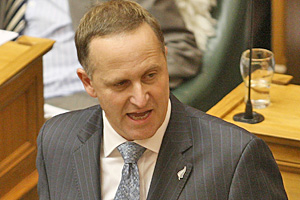 John Key was forced to defend himself in Parliament yesterday after opposition MPs grilled him on an apparent GST flip-flop. Photo / Getty Images