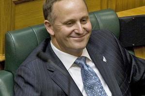 Prime Minister John Key after delivering his speech yesterday. Photo / Mark Mitchell