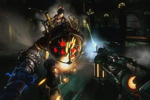 A grumpy 'Big Daddy' in Bioshock 2.