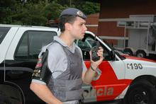 Tait Electronics' business development manager Hamish Wiig beat the competition to sell digital radios to the police in Sao Paulo. Photo / Supplied