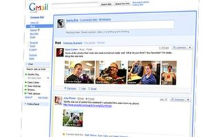 Gmail users are able to post Facebook-style status updates with Google's new 'Buzz' feature.
