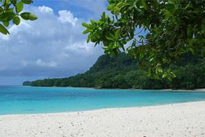 Espiritu Santo's Champagne Beach.