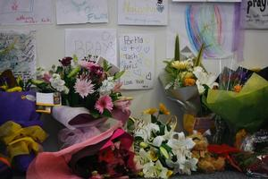 Tributes at Elim Christian college after the canyoning tragedy. File photo / Glenn Jeffrey
