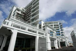 The Hilton Auckland hotel on Princes Wharf has been hit with weathertightness issues. Photo / Herald on Sunday