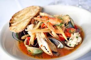 Seafood boulliabaise from Cin Cin. Photo / Natalie Slade
