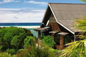 Milestone's Schooner Cottage overlooking the sea. Photo / Guy Needham