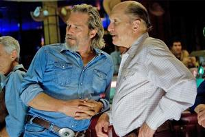 Co-star Robert Duvall (right) was instrumental in getting Bridges on board. Photo / Supplied