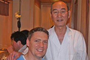 Geoff Scott and Mizutani. Photo / Supplied