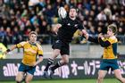 All Blacks wing Cory Jane in action during last year's Investec Tri-Nations rugby test match at Westpac Stadium. Photo / Mark Mitchell