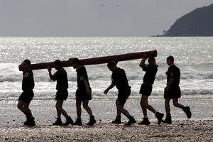 The trial military activity camp (MAC) included team-building exercises foreshadowed at this camp for youth offenders in 2008 at Coopers Beach in Northland. Photo / Dean Purcell