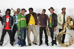 The Hypnotic Brass Ensemble. Photo / Supplied by Sally Woodfield
