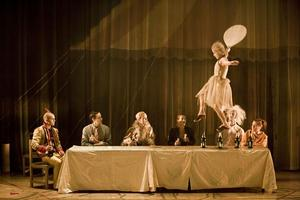 Inside out is a Swedish contemporary circus which performs to live rock music. Photo / Mats Backer