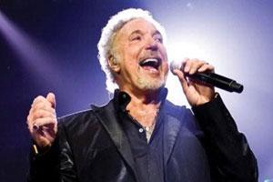 Tom Jones in concert. Photo / Supplied