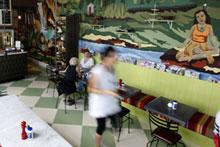 Queenie's Lunchroom in Freemans Bay. Photo / Babiche Martens