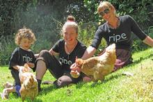 The fabulous Ripe team go free range. Photo / Supplied
