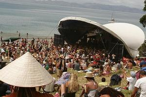 Last weekend's Splore festival at Tapapakanga Regional Park, south of Auckland. Photo / NZPA