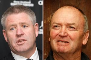 NZRU chief executive Steve Tew and All Blacks coach Graham Henry. Photos / Mark Mitchell, Brett Phibbs