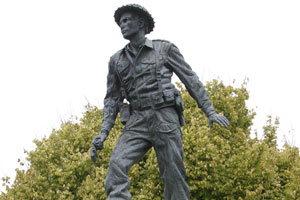 Amberley's statue of Charles Upham. Photo / Supplied