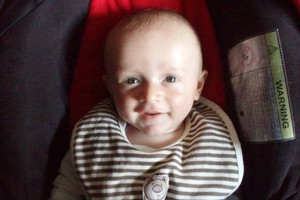 5-month-old Baxtor Gowland died when the 6.3 magnitude earthquake hit Christchurch. Photo / Supplied