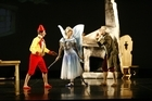 Pierre Doncq as Pinocchio, Antonia Hewitt as the Blue Fairy and Qi Huan as Geppetto. Photo / Supplied
