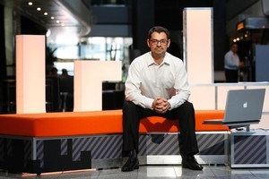 Eric Kearley head of TVNZ's Digital channels on set of the new channel U. Photo / Richard Robinson.
