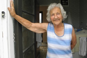 Rita Rothel, 83, refuses to leave her Redcliffs home. Photo / David Fisher