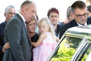 Andrew Craig was remembered yesterday as a fast-talking 'hard case' by family and friends who gathered in Linwood to say their goodbyes to him. Photo / Sarah Ivey