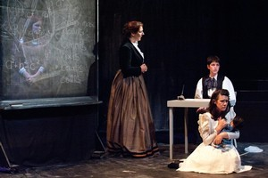 Emma Sloman (left),  Thomas White and  Tizane McEvoy in Carmel Carroll's adaptation of The Turn of the Screw. Photo / Michael Smith