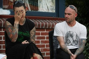 Jak and Matt Parkin hope Matti McEachen will be identified quickly because of his tattoos. He died in last week's quake. Photo / Greg Bowker