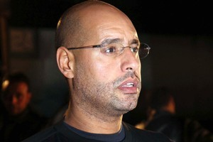Saif al-Islam Gadhafi, son of Libyan leader Moammar Gadhafi. Photo / AP