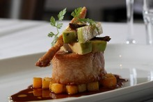 Mulberry's pork belly comes in both entre (pictured) and main meal size. Photo / Natalie Slade