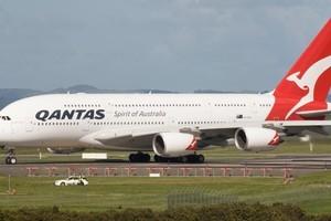 A Qantas Airbus A380. Photo / Paul Estcourt