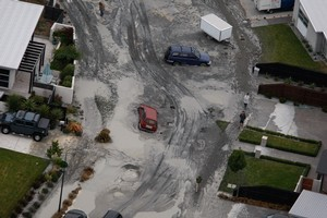 The suburb of Bexley in Christchurch after the second earthquake.  Photo / Brett Phibbs