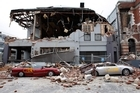 Destruction in Manchester Street in Christchurch's CBD after the second earthquake. Photo / Brett Phibbs