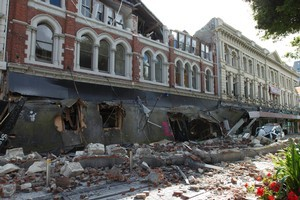 Cashel Mall was destroyed in the quake. Photo / Simon Baker