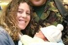 Amanda Uriao with husband Ngati and new-born baby Samara Lee in 2003. Photo / Supplied