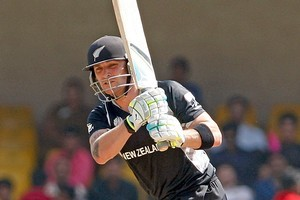 Brendon McCullum of New Zealand bats against Zimbabwe in the 2011 ICC World Cup Group A match. Photo / Getty Images